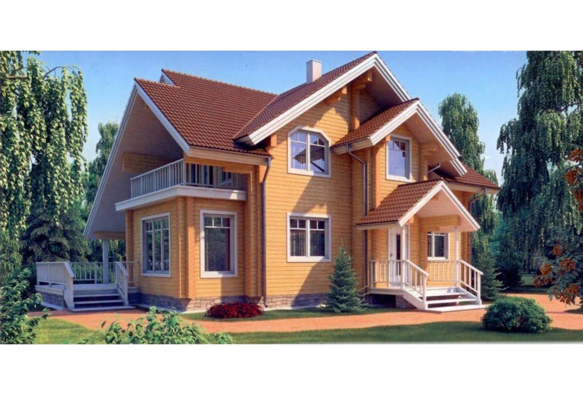 Дом из клееного бруса по проекту 11-39