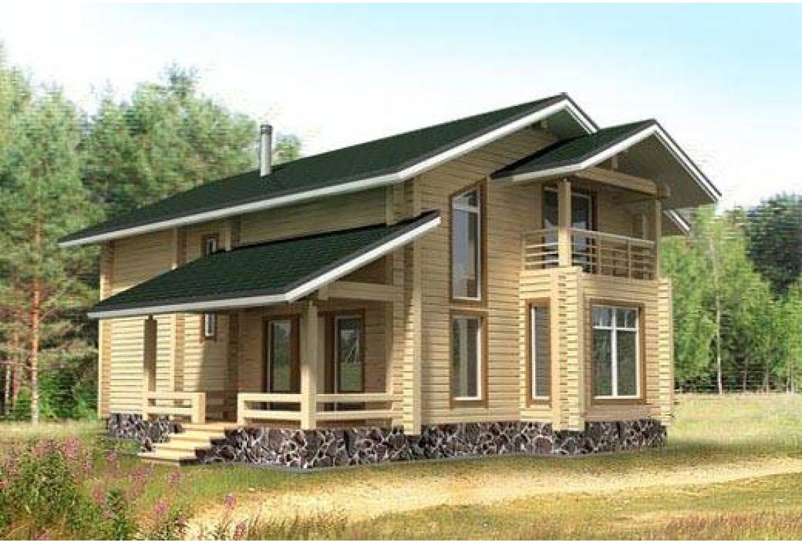 Деревянный дом по проекту БР-17
