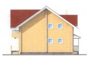 Проект дома из клееного бруса 11-00