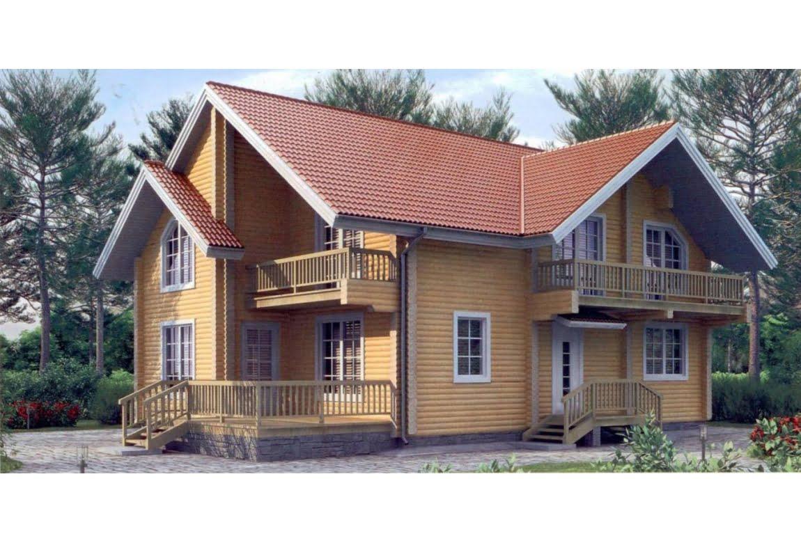 Дом из клееного бруса по проекту 11-00