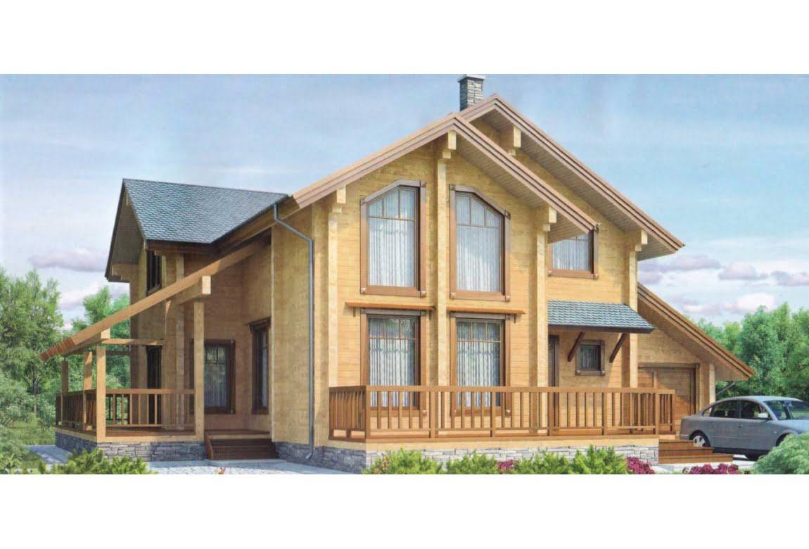 Деревянный дом по проекту 11-83