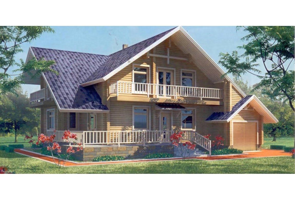 Деревянный дом по проекту 10-97