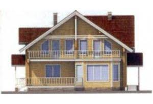Проект дома из клееного бруса 11-57