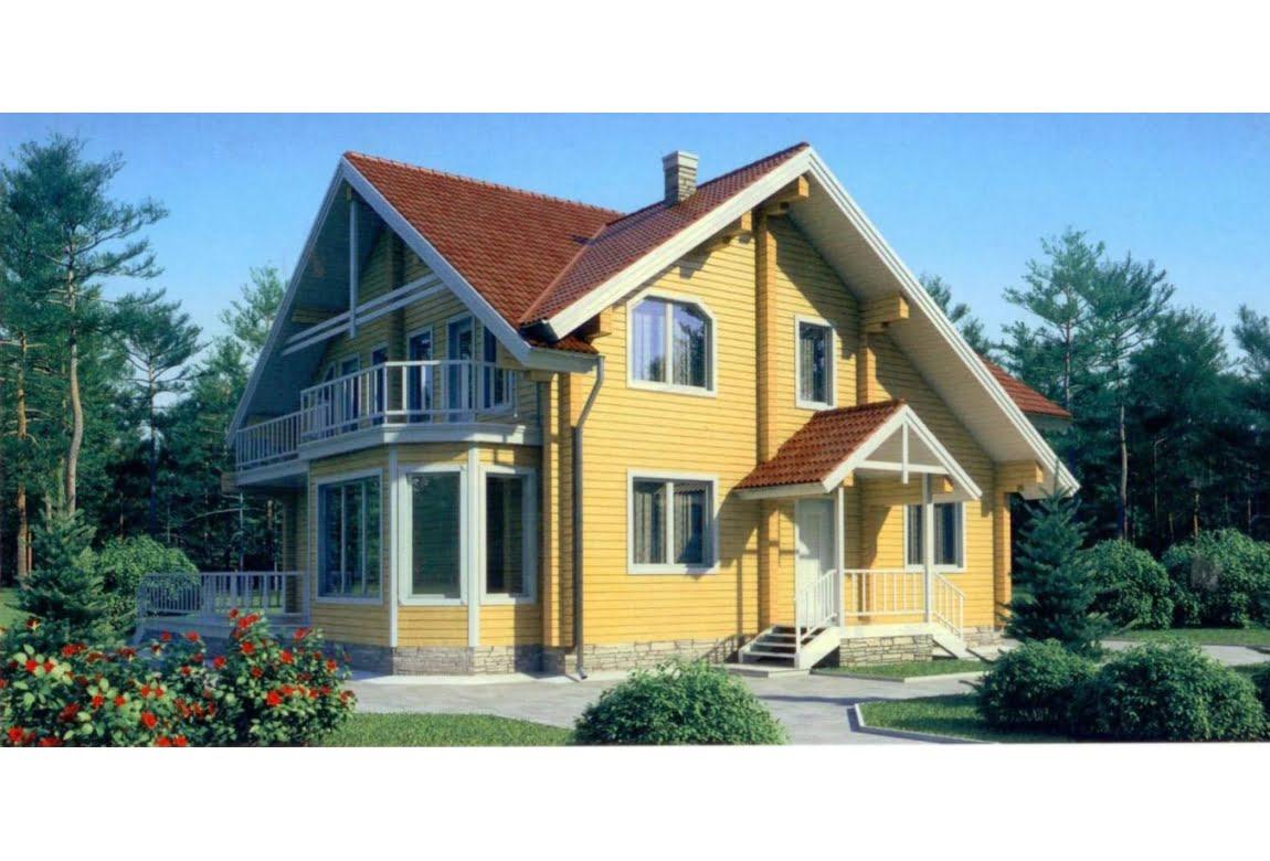 Дом из клееного бруса по проекту 11-57
