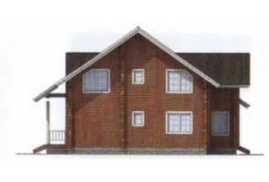 Проект дома из клееного бруса 11-85