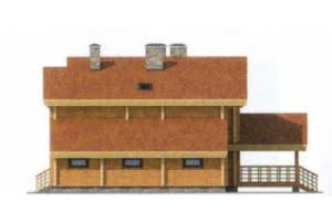 Проект дома из клееного бруса 12-03