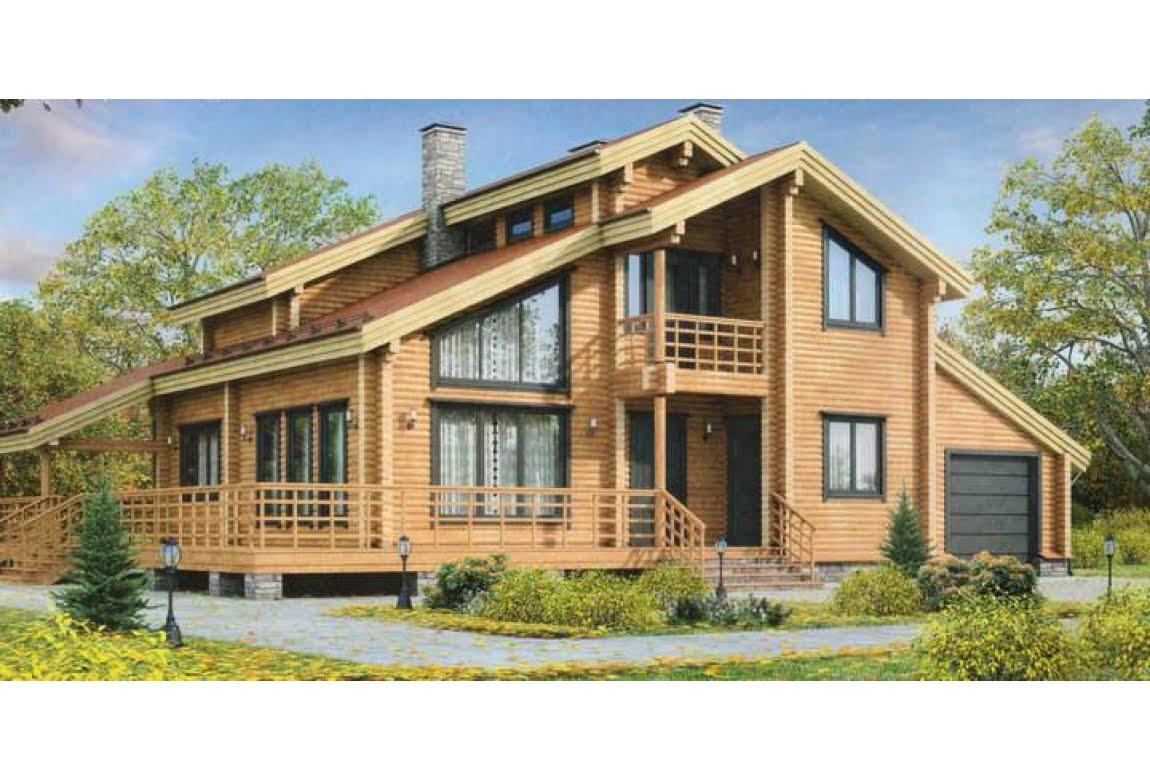 Дом из клееного бруса по проекту 12-03