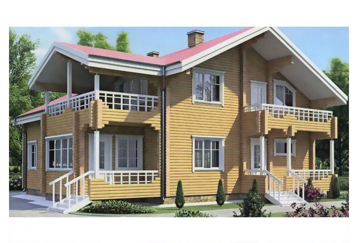 Дом из клееного бруса по проекту 11-13