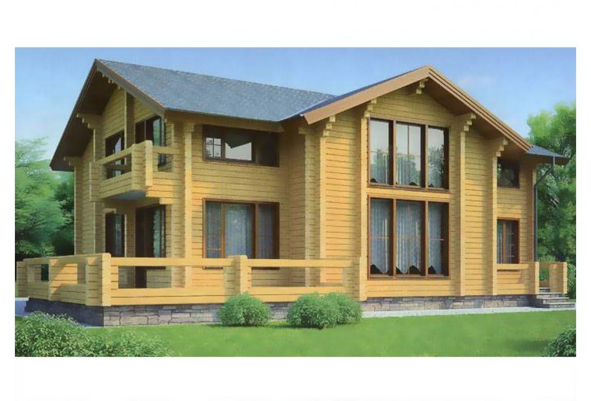 Деревянный дом по проекту 11-67