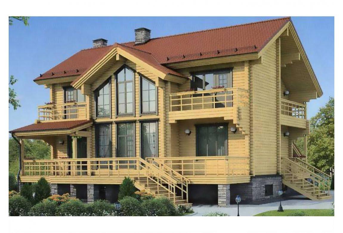 Дом из клееного бруса по проекту 11-99