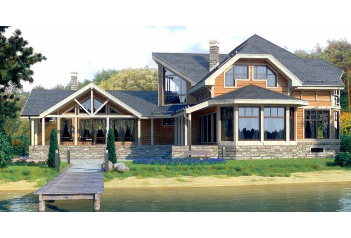 Дом из клееного бруса по проекту 12-19