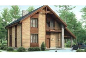 Проект каркасного дома 54-32