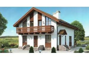 Проект каркасного дома 55-27