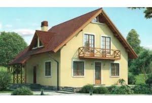 Проект каркасного дома 53-93