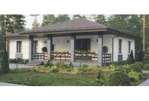 Проект каркасного дома 56-30