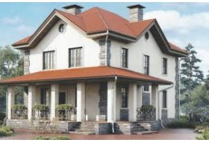 Проект каркасного дома 55-86