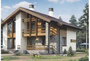 Проект каркасного дома 56-31