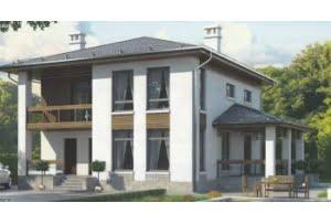 Проект каркасного дома 55-65