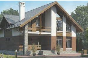 Проект каркасного дома 55-56