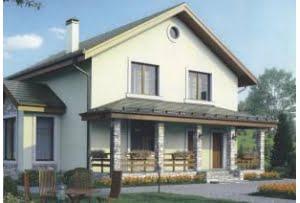 Проект каркасного дома 56-43