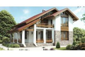 Проект каркасного дома 55-12