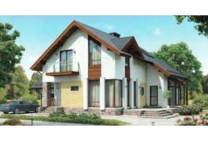 Проект каркасного дома 55-32