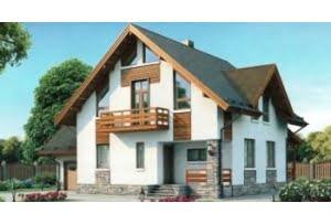 Проект каркасного дома 54-75