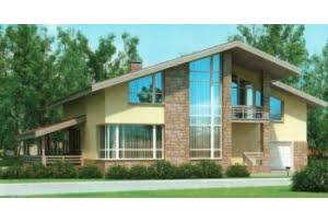 Проект каркасного дома 54-44