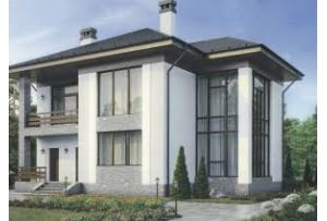 Проект каркасного дома 56-60