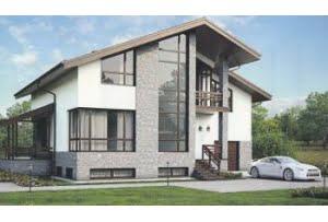 Проект каркасного дома 56-16