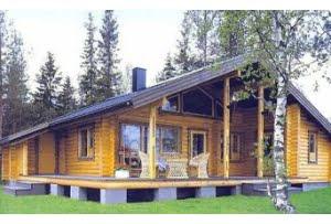 Проект дома из бревна DD2-634