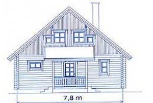 Проект дома из клееного бруса DD2-655