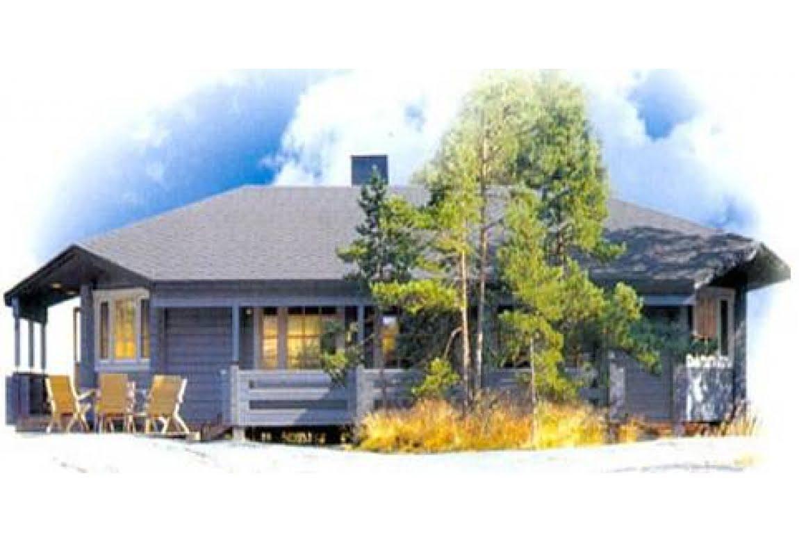 Брусовой дом по проекту DD2-656