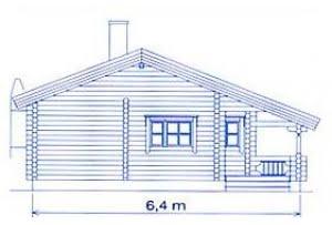Дом из клееного бруса по проекту DD2-657