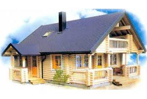 Дом из оцилиндрованного бревна DD2-659