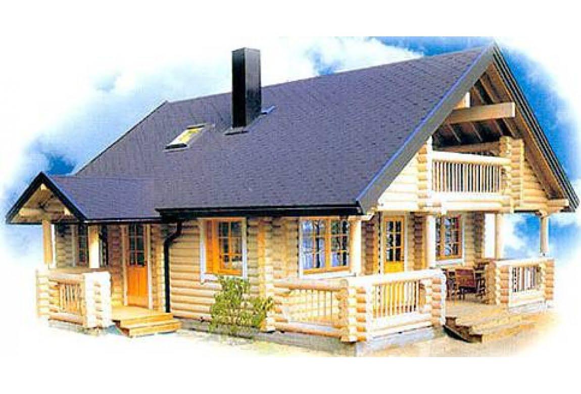 Дом из оцилиндрованного бруса DD2-659