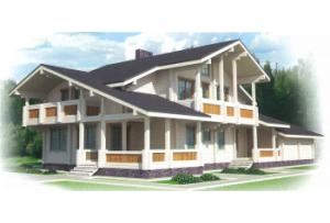 Дом из профилированного бруса Швеция