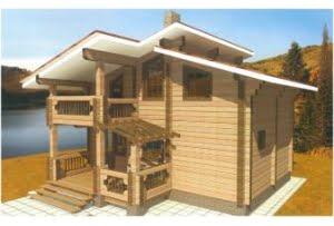 Дом из клееного бруса Агат