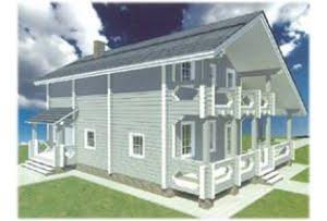 Проект дома из клееного бруса Аметист