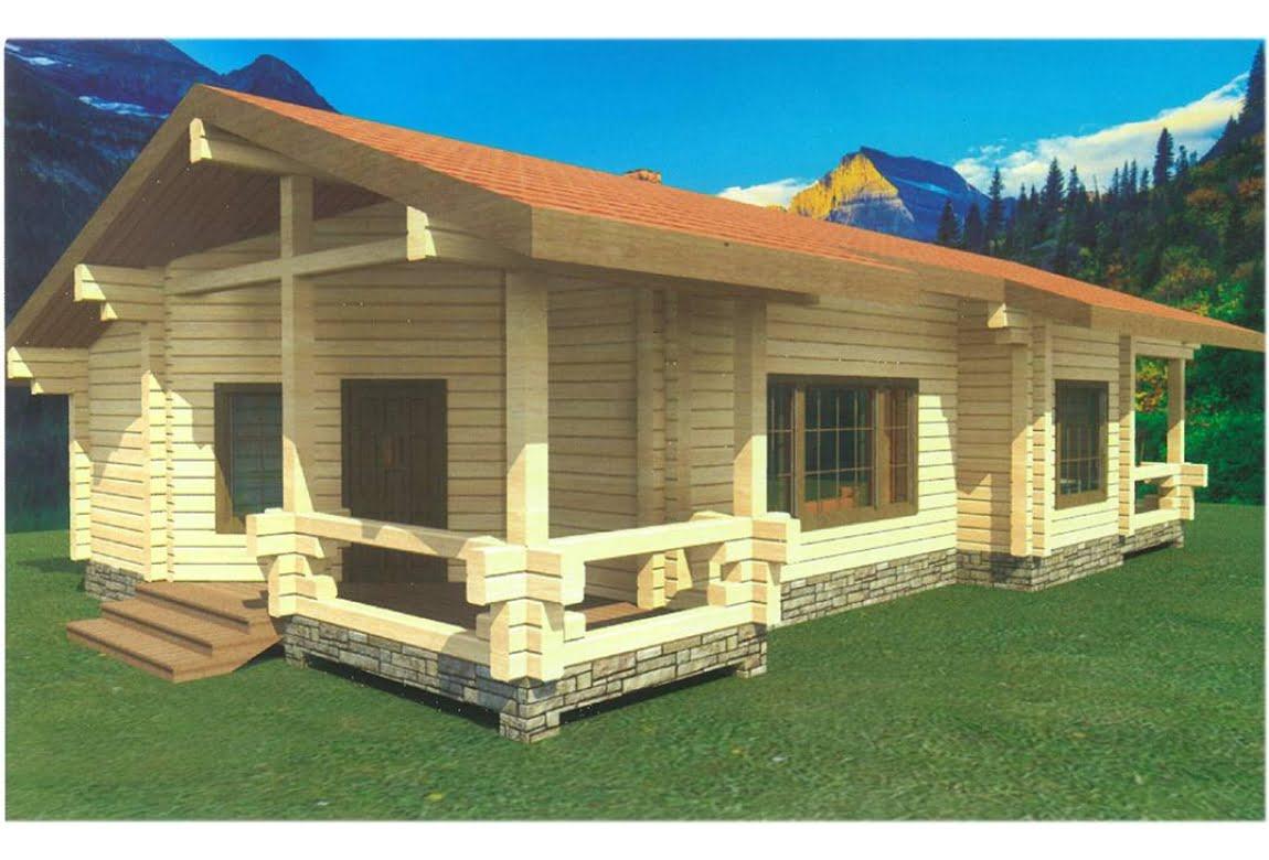 Проект дома из клееного бруса Лазурит