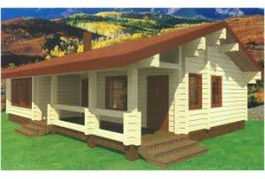 Дом из клееного бруса Опал
