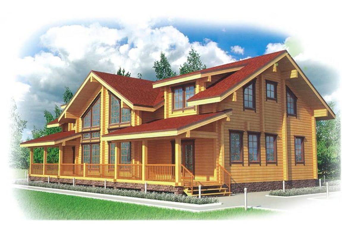 Проект дома из клееного бруса Руза