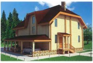 Проект дома из клееного бруса Славянка