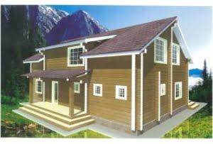 Дом из профилированного бруса Топаз