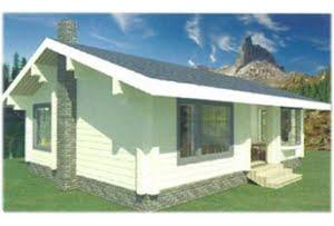 Дом из клееного бруса Циркон