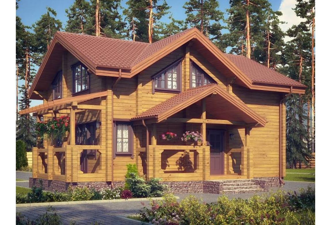 Деревянный дом Милан