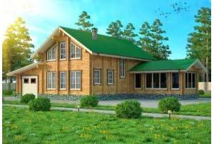 Проект дома из клееного бруса София