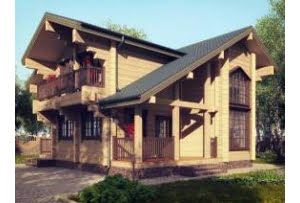 Деревянный дом Турин