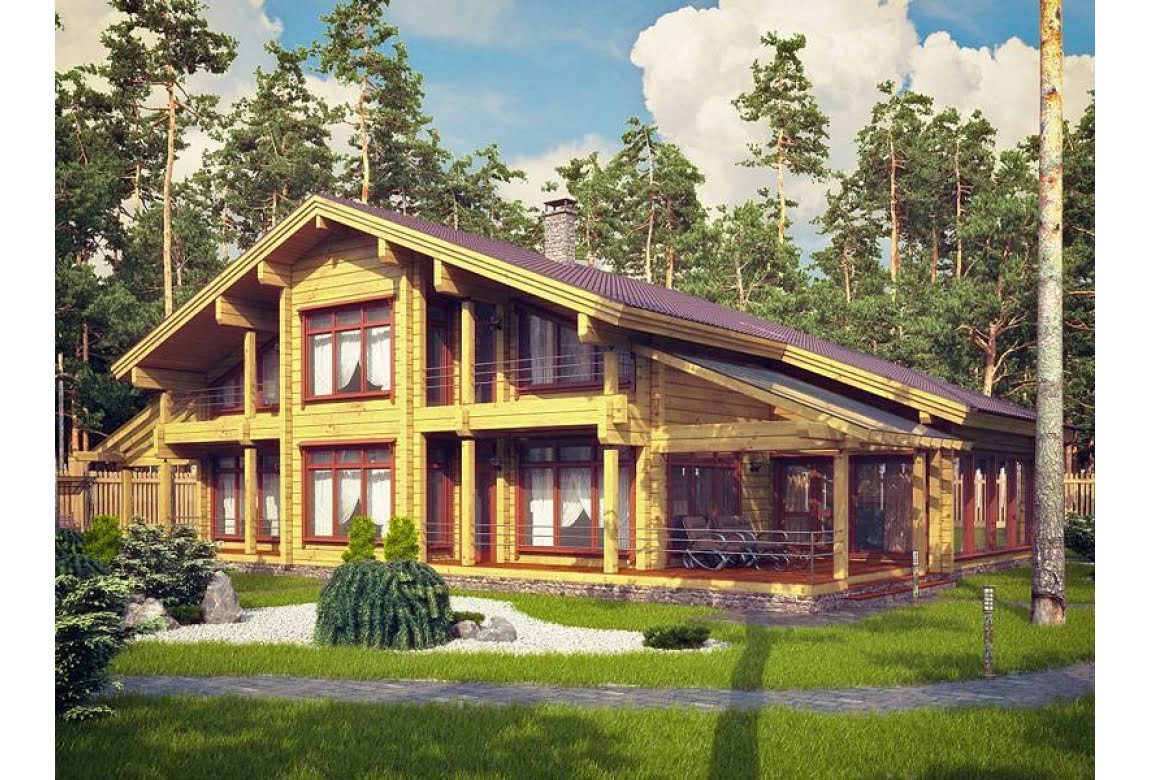 Проект дома из клееного бруса Австрия