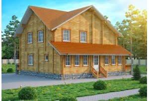 Проект дома из клееного бруса Инсбург
